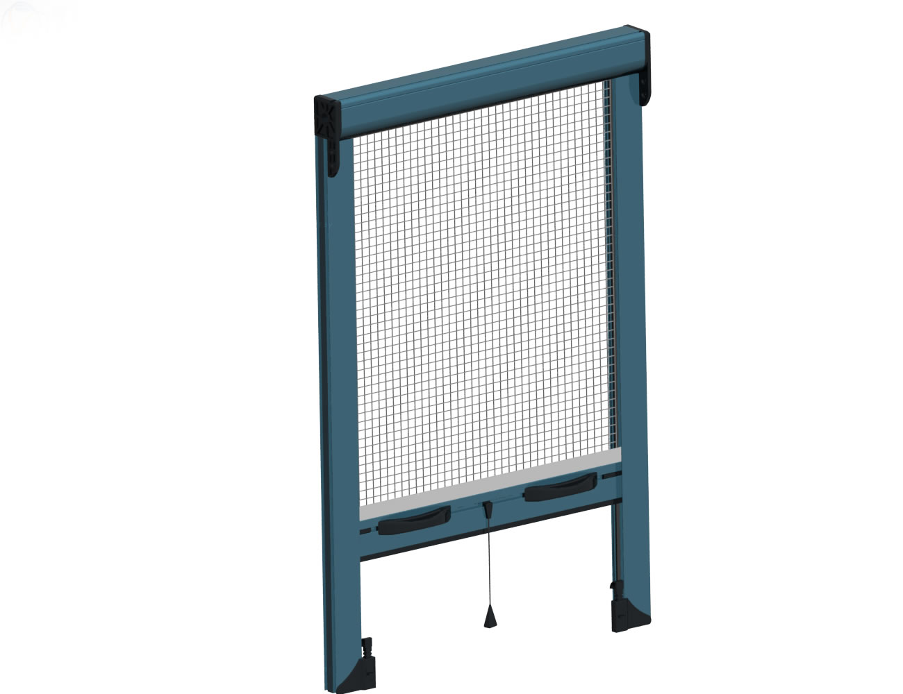 Vertical movement insect screen