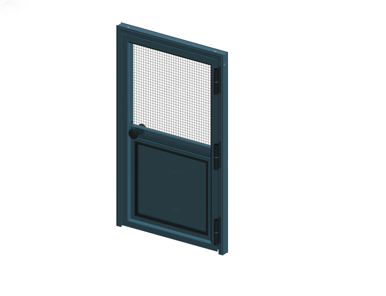 Opening Single Door with aluminium sheet